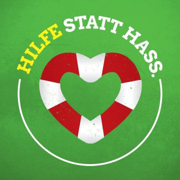 Hilfe Statt Hass Banner