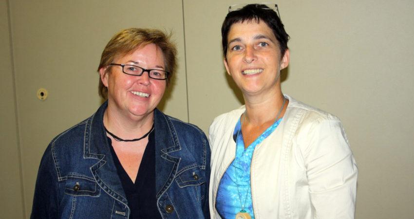 Regina Schlüter-Ruff mit Barbara Steffens, NRW-Gesundheitsministerin